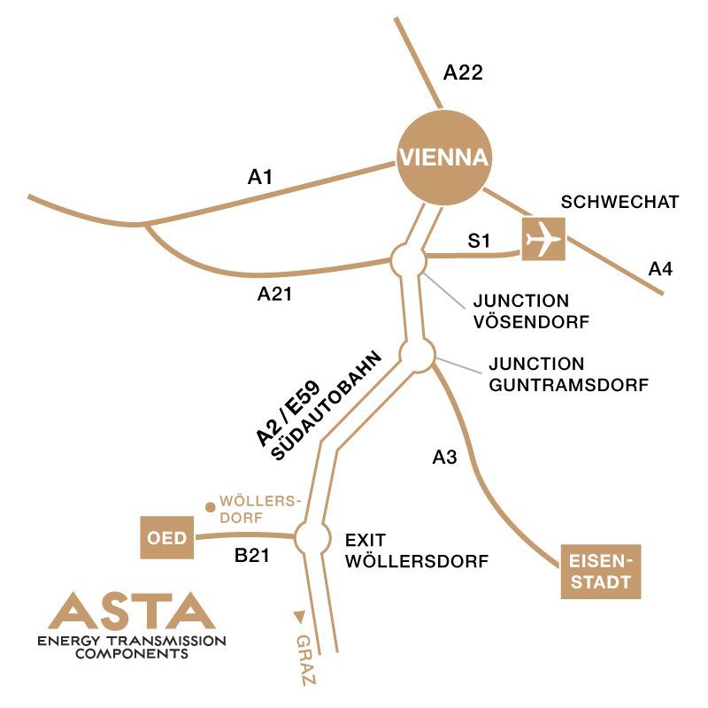 ASTA location map